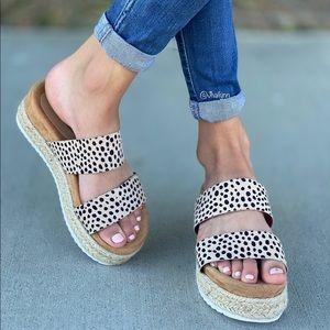 Cheetah Print Espadrille sandal
